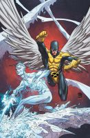 Iceman and Angel cover by rogercruz