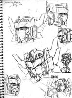 TFC Optimus Study Sketches by Autobot-Windracer