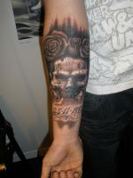 Freehand skull by viptattoo