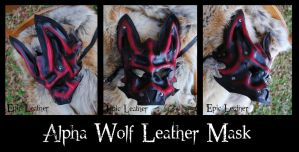 Ruby Alpha Wolf Leather Mask by Epic-Leather
