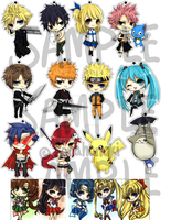 Keychain Chibi Art batch 1 by sorahanaki