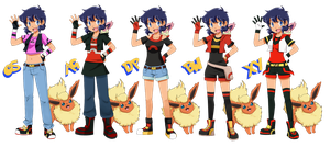 Sarha - Pokemon Outfits by SkyDrew