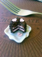 Miniature Chocolate Strawberry Love Cake by KrystalsTinyCakery