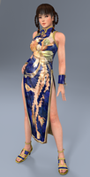 Lei Fang blue dress-Render by Dizzy-XD