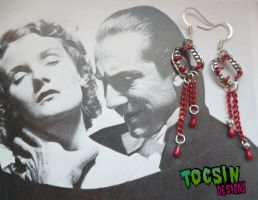 DRACULA VAMPIRE FANGS EARRINGS by TocsinDesigns