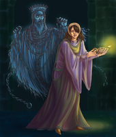 In the Dark of the Tomb by temiel
