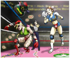 Chun Li Vs Cammy by fab1rr