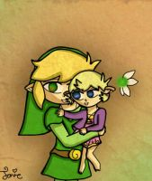Link and his little girl by Jrynkows