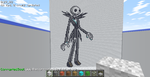 Minecraft Jack Skellington by TheCorrupted
