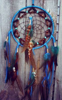 Turquoise Dream Catcher by xsaraphanelia