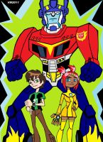 BEN 10 AND THE TRANSFORMERS 1 by VectorMagnus2011