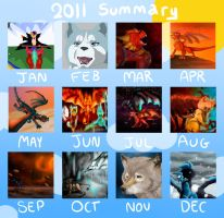 Summary of Art 2011 by Dragon-In-A-Blue-Box