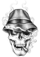 Smoking Skull by CMTrov74