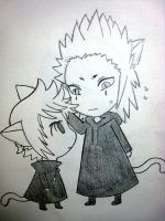 Kitty Roxas and Foxy Axel by asmilethatshines