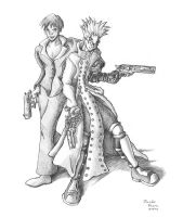 Vash and Wolfwood by SmilinJack