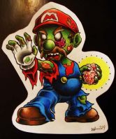 Zombie Mario by WilliamLight616