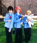 Haruhi, Honey, and Hikaru at A-Kon 24 by Haven-Chan