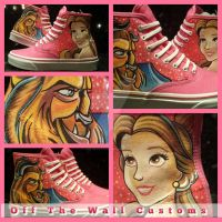 Beauty and the Beast Custom Vans by VeryBadThing