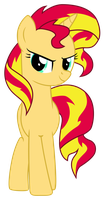 [MLP ] Sunset Shimmer pose pride by Luke262