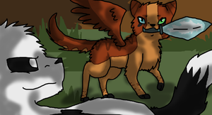 AT with FireVampireCat by MynameisDragon