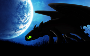 Request: Night Fury Toothless Wallpaper by BlueDragonHans