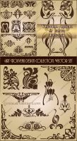 Art Nouveau design collection. Vector set 2 by Lyotta