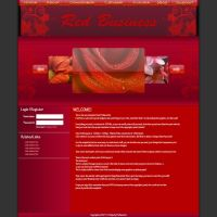 Web Layout: Red Business by ProDexorite