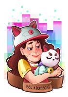 Bee and Puppycat by Den2Cypher