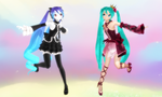 Infinite Miku AND Vintage Miku Download by SenseiTag