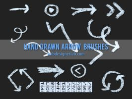 Grungy Hand Drawn Arrow Brushes by xara24