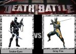 Snake-eyes vs Gray fox DEATH BATTLE by Iorigaara