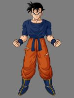 Damaged Gohan By KingCrackRock by kingcrackrock