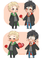 Chibi Drarry - Just take it! by Cremebunny