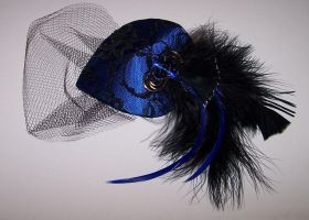 Steampunk Blue Fascinator I by ShimensokaTenshi
