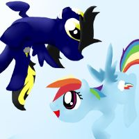 .:Request:. Shadow and Rainbow Dash by IDSmehlite