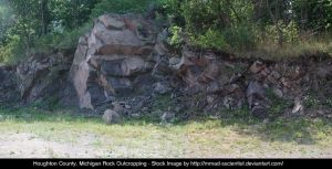 Houghton, Co. Rock Outcropping by mmad-sscientist