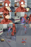 Peter Parker - Comic: A typical Day by Shioshiorz