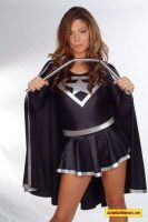 evil stargirl bends steel bar by ilikesuperwomens