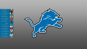 Detroit Lions 2013 Schedule Wallpaper by SevenwithaT