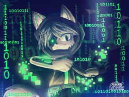 Crack The Cyber Cat by Crazeh-Swaggeh