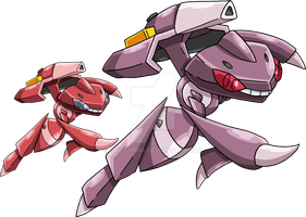 649 - Genesect - Art v.3 by Tails19950