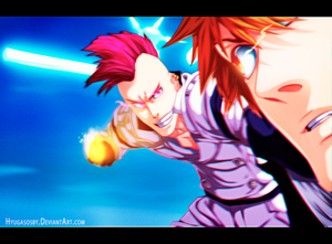 Bleach 585 - Bazz B vs Ichigo by hyugasosby