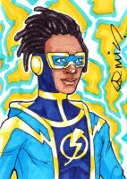Static Shock ACEO by micQuestion