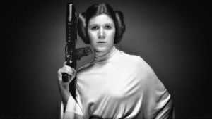 Carrie Fisher Princess Leia III by Dave-Daring