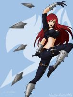 Kiriban 10K: Erza as Katarina by Shadow-Hunter446