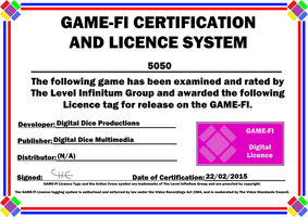 5050 Game-Fi Certificate by LevelInfinitum