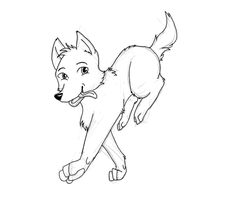 Dog lineart by MyLadyMino