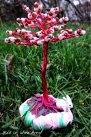 Pink tree with bunny by HollieBollie