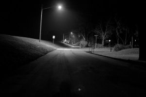 Lonely Road at Night by skierscott