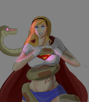 Super Girl And Kaa Requested by lukesChillArt666